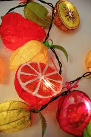 Paper Mache String Lights Fairy Lights Made From Papier Mache Fruit And Veg Joanna