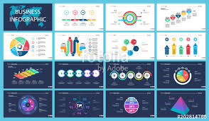 Colorful Analysis Or Finance Concept Infographic Charts Set