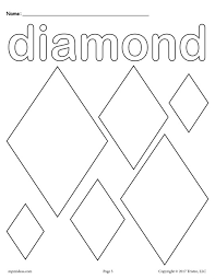 Small Picture FREE Diamonds Coloring Page Diamond Shape Worksheet
