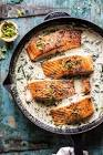 almond chive salmon