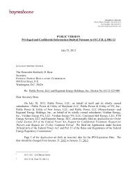 Ferc Chart Of Accounts 2012 07 23 Letter To Ferc Detailing Acquisition