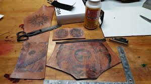 picture of torins tutorials steampunk leather ink transfer
