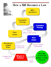 Bill To Law Chart How A Bill Becomes A Law Lessons Tes Teach