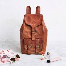 large leather backpack previous