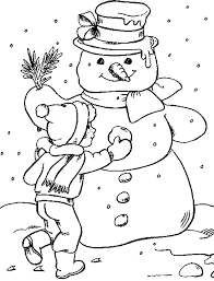 Small Picture Kids Under 7 Snowman Coloring pages for kids