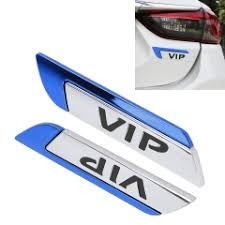 2 PCS Car-Styling Sticker VIP Random Decorative ... - SUNSKY