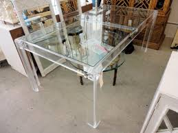 SOLD - Lucite Dining Table