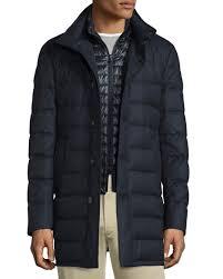 Moncler Vallier Quilted Down Coat, Navy &  Adamdwight.com