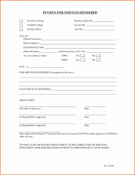 Receipt For Services Rendered Template Batayneh Me