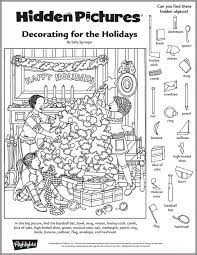 Small Picture Decorating for the Holidays Hidden Pictures Puzzle Navidad