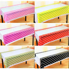 whole polka dot plastic table cloth kids birthday party decoration baby shower decoration supplies disposable tablecloth w plaid tablecloths round