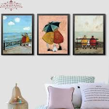 <b>Gohipang</b> Happy Family Abstract Love Canvas Painting Vintage ...