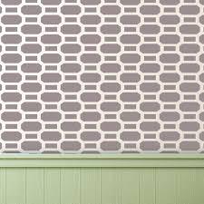 brick allover stencil reusable pattern for walls diy decor just like wallpaper