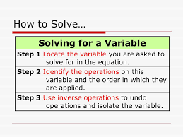 7 how to solve solving for a variable step