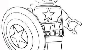 Disegno Di Lego Captain America Da Colorare Disegni Da Colorare E