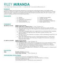 Resume For Teacher Position Best Teacher Resume Example