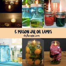 5 mason jar oil lamps