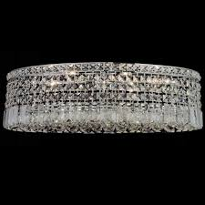 picture of 26 bossolo transitional crystal oval flush mount chandelier polished chrome 8 lights