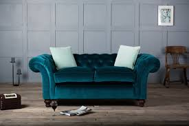 tufted furniture trend. Brilliant Trend FurnitureLuxury Sofa Trend Furniture In Navy Teal Upholstery With  Tufted Back Rolled Arms Two To I