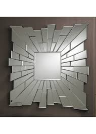Small Picture Large Modern Royale Square Multi Faceted Wall Mirror