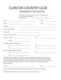 Membership Dues Template Club Membership Application Template