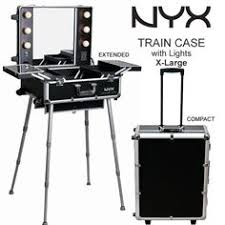 nyx makeup artist train case with lights x large
