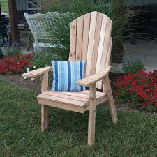 high backed cedar adirondack chair great outdoor furniture piece for the back yard patio deck or garden amish made in the usa