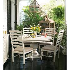 paula deen linen round pedestal table hover to zoom