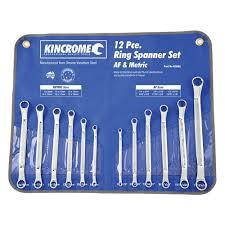 Ring Spanner Set 12 Piece Spanner Sets 49 Kincrome