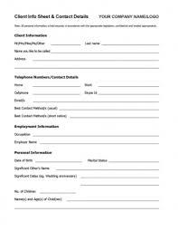 Personal Information Sheets Personal Information Sheet Sample Tirevi Fontanacountryinn Com
