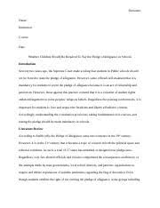 critical analysis essay of andrew braaksma lessons from an 10 pages whether students should be forced to recite the pledge of allegiance