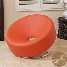 christopher knight home modern round orange accent chair
