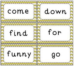 Sight Word Flash Cards Dolch Pre Primer Set