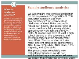 audience analysis primary audience analysis and technical reporting 2