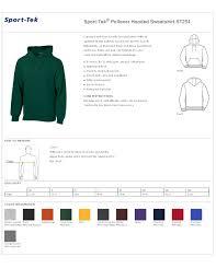 Sport Tek Pullover Hooded Sweatshirt St254
