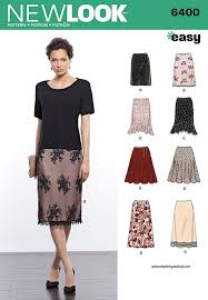 New Look Patterns Amazing Patterns New Look 48 Misses' Skirts In Various Styles Vogue