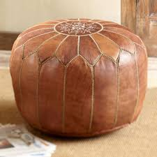 moroccan medina leather pouf  national geographic store