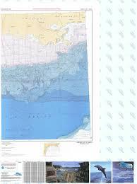 Bathymetric Nautical Chart Br 7pt2 Western Gulf Of Mexico Pt 2