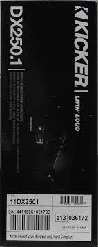 kicker dx250 1 250w mono class a b subwoofer amplifier walmart com