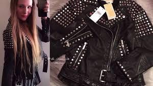 designer jacket unboxing michael kors studded leather jacket marta in vogue uk