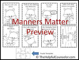 Small Picture Manners Matter Fun Freebie to Encourage Kind Words