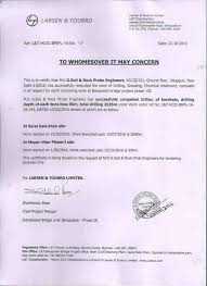 Completion Certificates G Soil Rock Probe Engineers