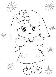 Small Picture Little Girl Coloring Page Stock Illustration Image 50763384