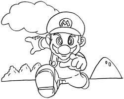 Super Mario In Corsa Disegno Da Colorare Per Bambino E Bambina