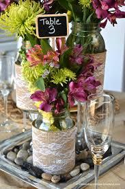 Mason Jar Decorations For A Wedding DIY Mason Jar Wedding Centerpieces A Little Claireification 13
