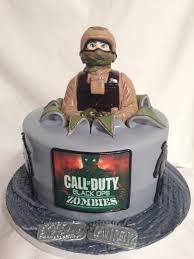 Call of Duty 3D Fondant Cake