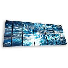 ash carl x27 highlight x27 7 panel abstract metal wall on blue abstract metal wall art with shop ash carl highlight 7 panel abstract metal wall art free