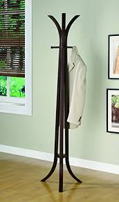 Unusual Coat Racks Amazing Amazon Coaster Contemporary Cappuccino Coat Rack Kitchen Dining