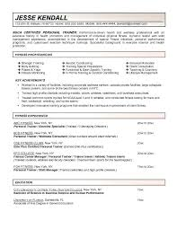 Fitness Resume Objective Best of Fitness Trainer Resume Sample Pdf For Personal New Statement Classy