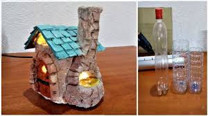 Diy Bakery Fairy House Lamp Using Plastic Bottles